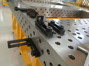 3D modular weld table block stop