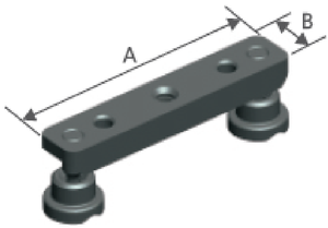 Clamping bridge with 2 Clamping pads steel