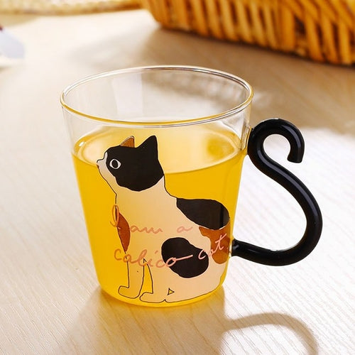 Calico Cat Glass Cup