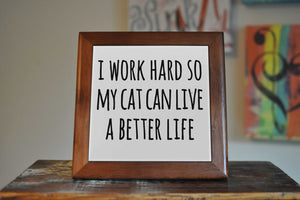 Cat Lover Ceramic Tile