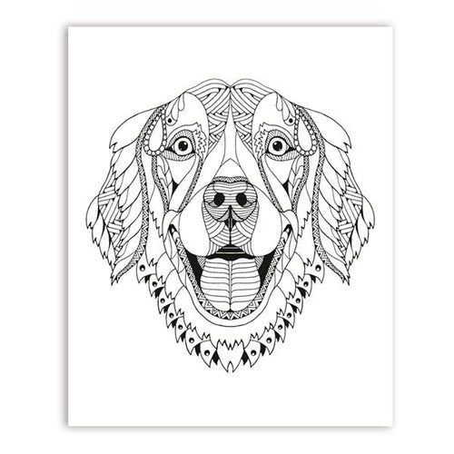 Hand Drawn Dog Canvas Art Prints