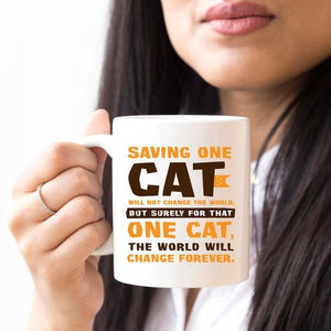 """Saving One Cat"" Coffee Mug"