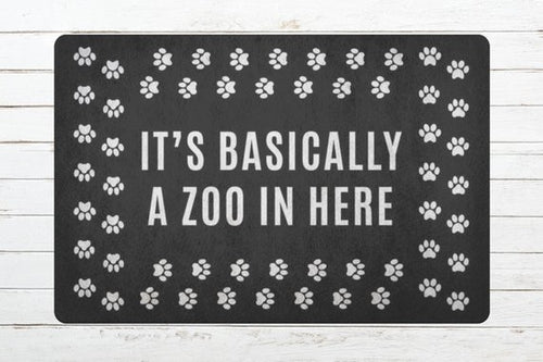 Funny Dog Cat Door Mat