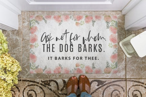 Funny Dog Door Mat
