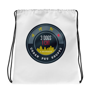 3Dogs1Cat Drawstring Bag