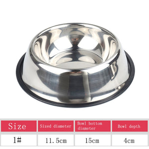 Dog Food Bowl Stainless Steel Bowl