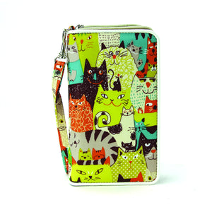 Many Many Cats Wallet/Wristlet in Nylon