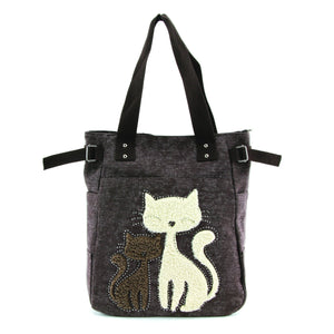 Chic Cat Canvas Tote Bag