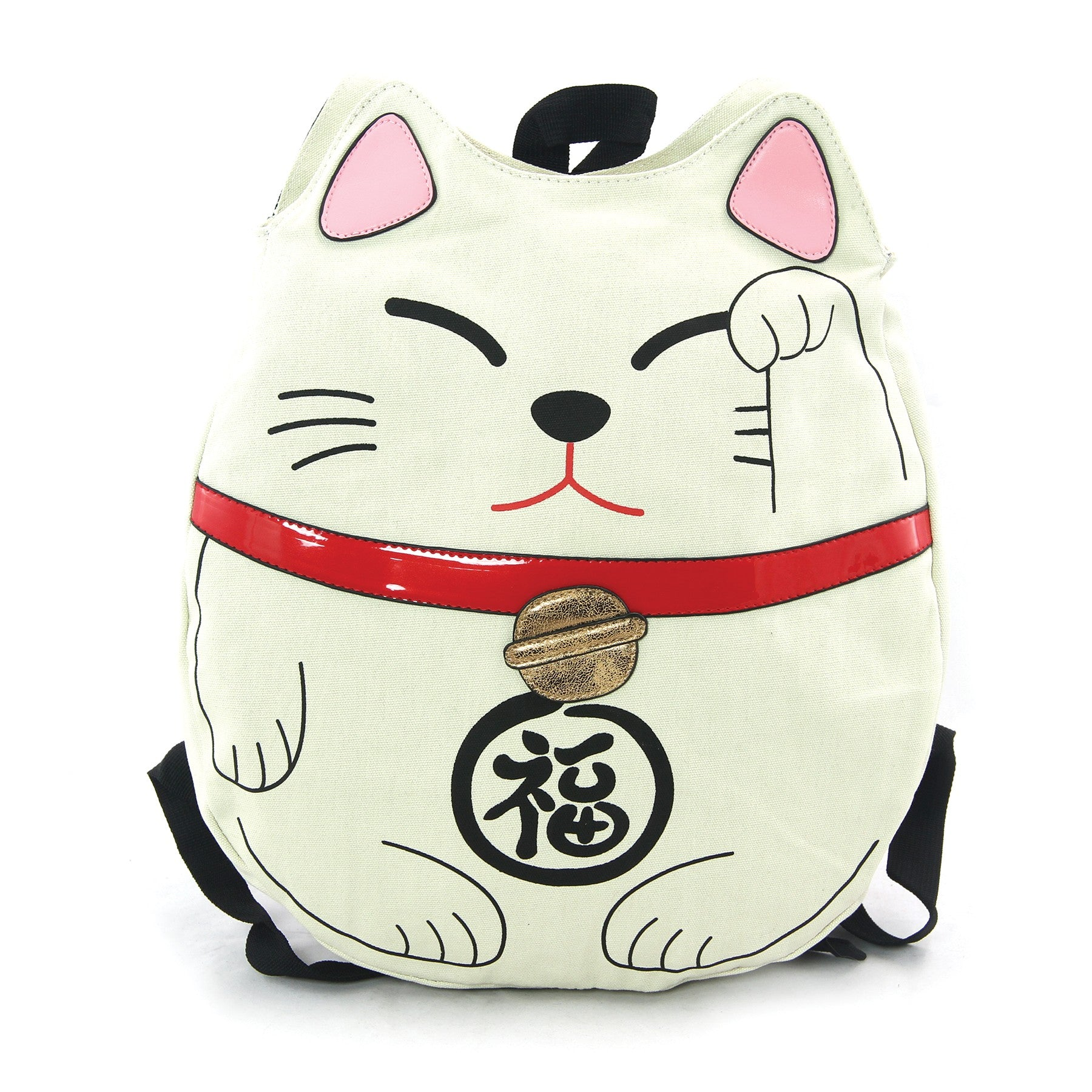 Sleepyville Critters - Lucky Cat Backpack in Canvas Material