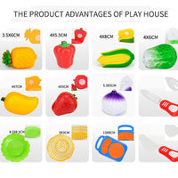 Little Chef Fruit & Vegetable Pretend Play Set
