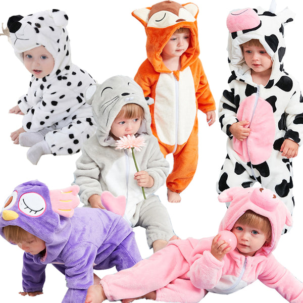 Baby Animal Hooded Onesie
