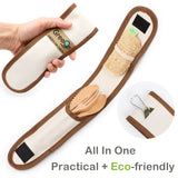 Wooden Reusable Utensils Set with storage pouch