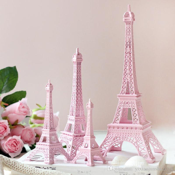 Romantic Pink Paris 3D Eiffel Tower Sculpture