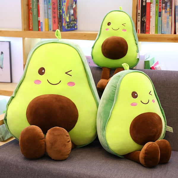 30\45\60cm winking cute beautiful avocado fruit plush plant toy cartoon plush doll boy girl anti-stress pad pillow gift