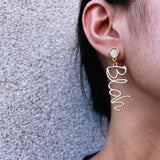 Geometric Gold Dangle Fashion Earrings