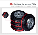 Tire Covers 4-piece Set with Carry Handles