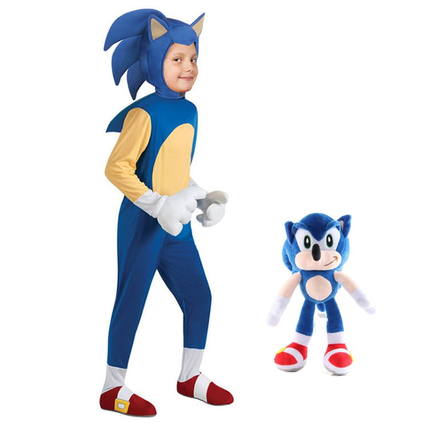 Sonic the Hedgehog Costume & Sonic Stuffed Toy
