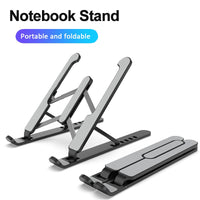 Delta Portable and Adjustable Laptop Stand Adjustable Foldable ABS Laptop Tablet Stand Portable Desktop Holder Mounts Laptop Accessories For Macbook Pro Air Notebook Stand ergonomic work from home virtual school kids school