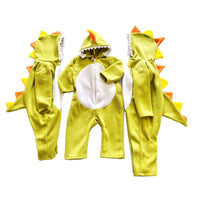 Dinosaur Jumpsuit with Hoodie and Tail - 12M to 5T