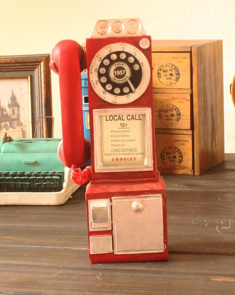 Vintage Rotary Payphone Decor