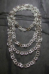 Hammered Link Necklace