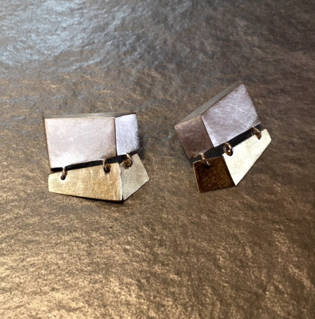 Dangling Ledge Earrings,Earrings - didi suydam contemporary