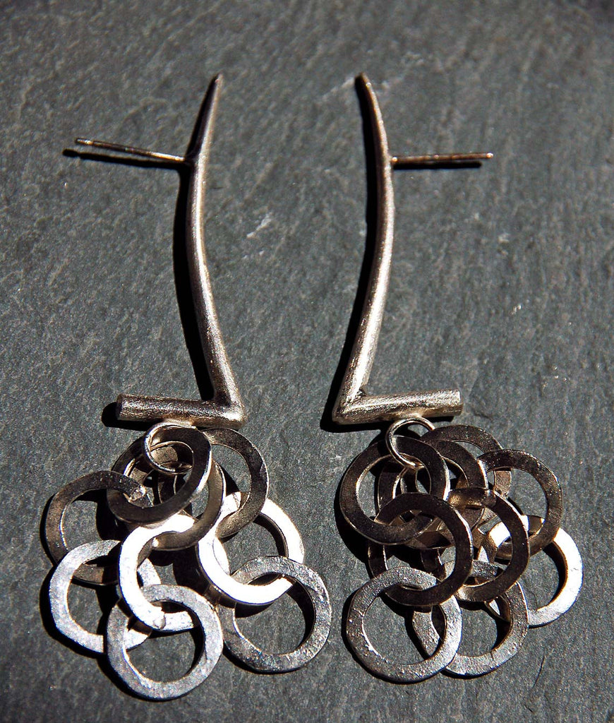 Gazelle Earrings with Links, - didi suydam contemporary