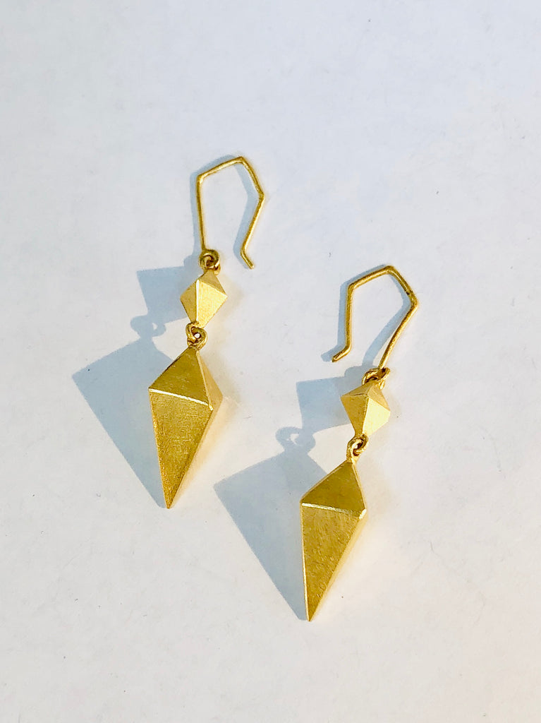 Diana Long Diamond Earrings,Earring - didi suydam contemporary