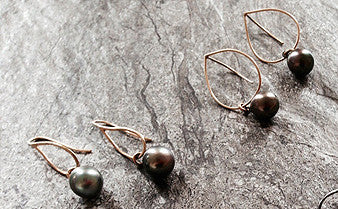 Tahitian Pearl Earrings,Limited Edition Earrings - didi suydam contemporary