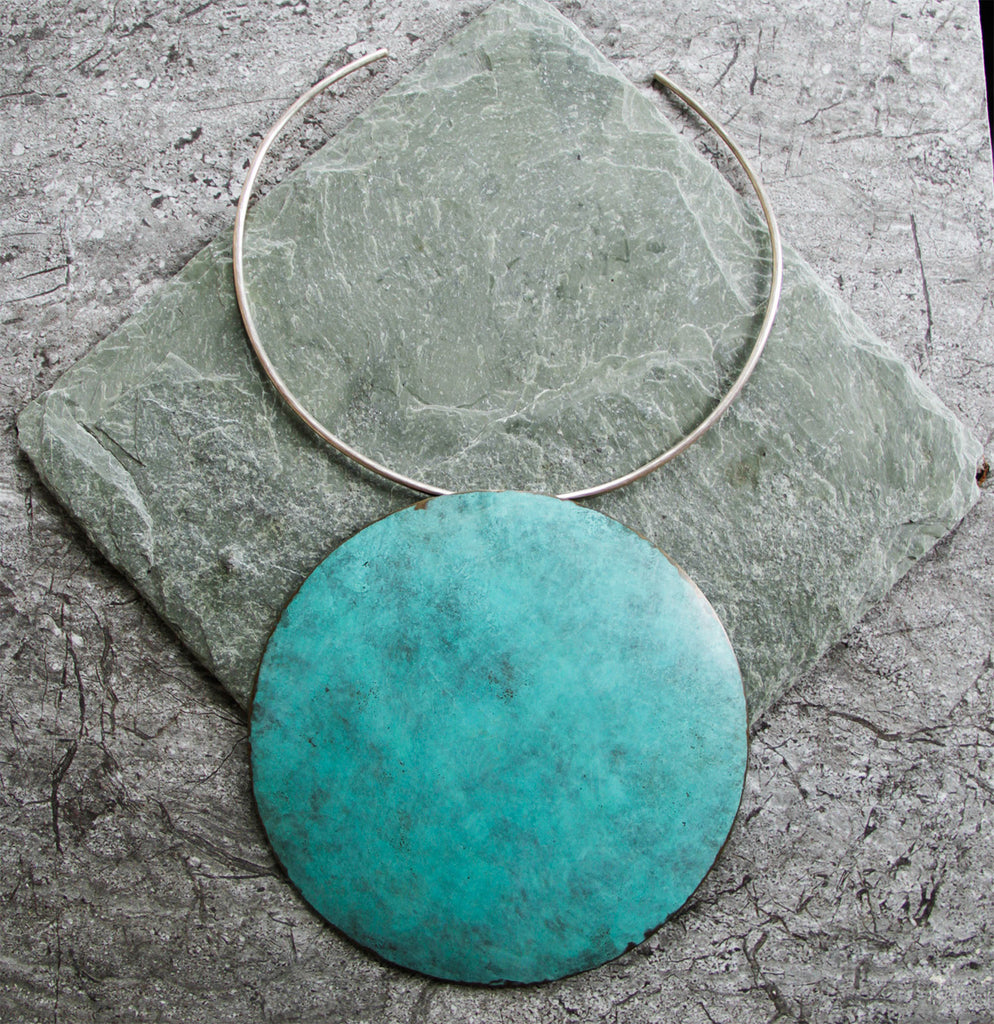 Verdigris Juna Neckpiece,Necklaces - didi suydam contemporary