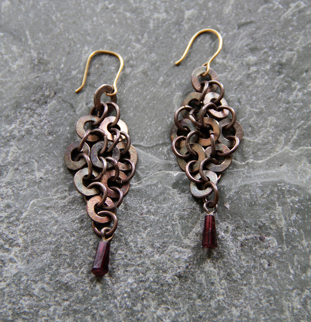 Small Chainmail  Earrings,Earring - didi suydam contemporary