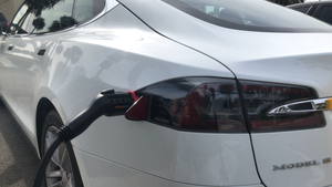 Model S Tesla Charger Lock for J1772 adapter locking at public chargers