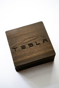 Custom Wood Tesla Coasters - Great gift for Him or Her!
