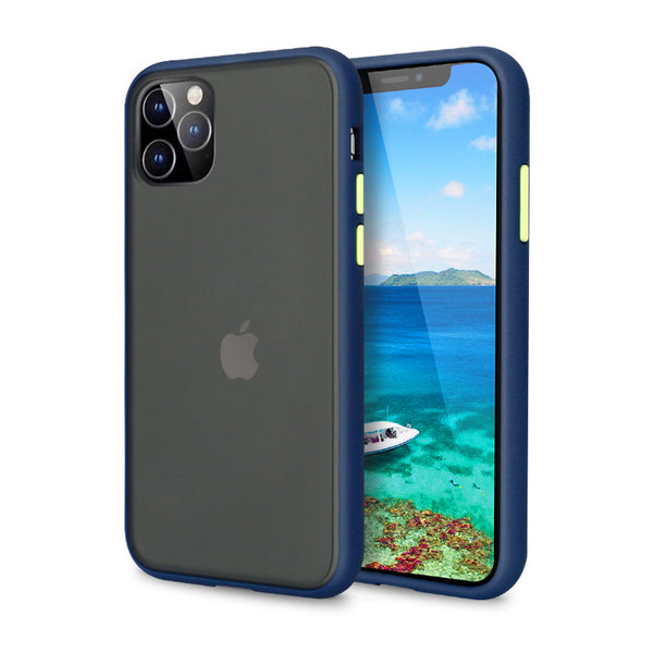 iPhone Blue Rubber Oil Feel Case