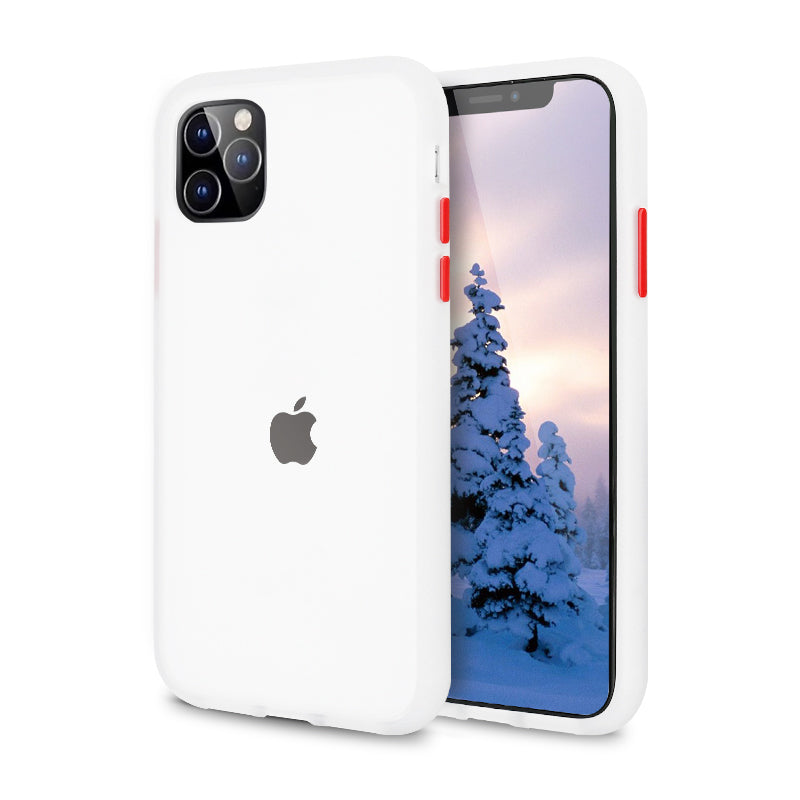 iPhone White Rubber Oil Feel Case