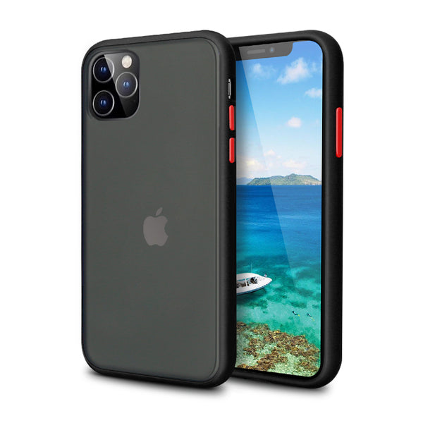 iPhone Black Rubber Oil Feel Case