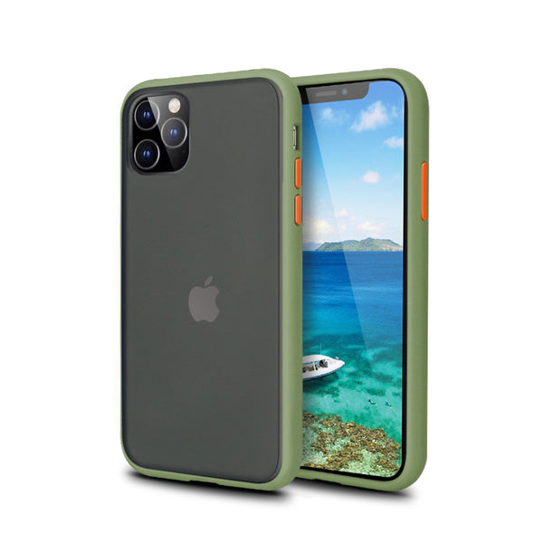 iPhone Green Rubber Oil Feel Case