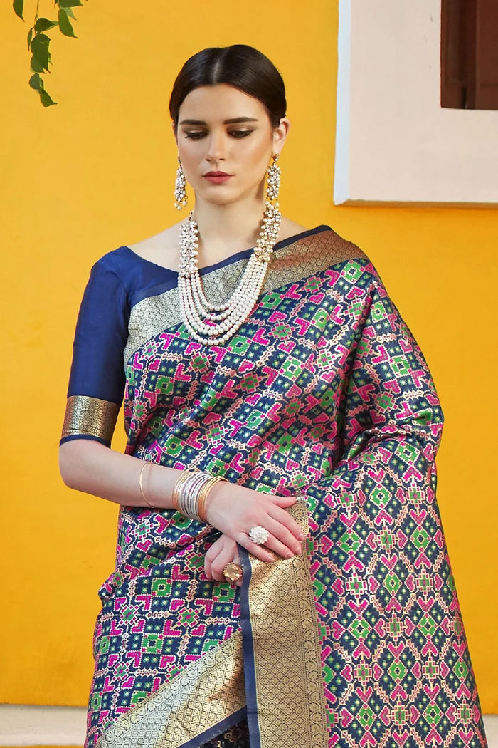 Multicolored Woven Banarasi Saree