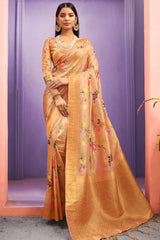 Harvest Gold Banarasi Saree