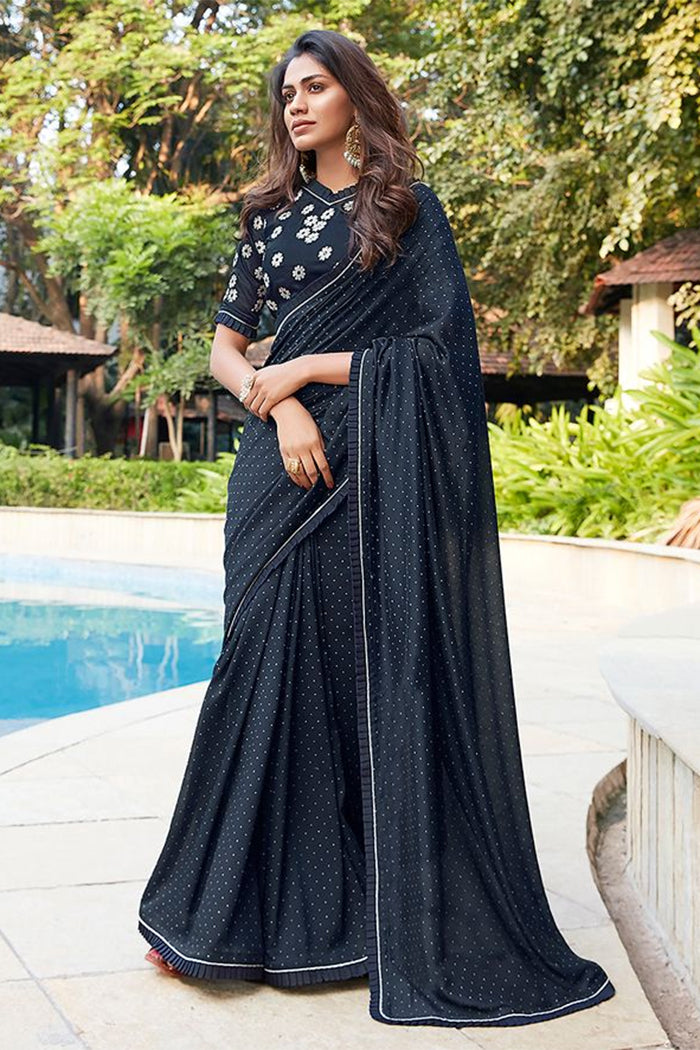 Mirage Black Soft Saree