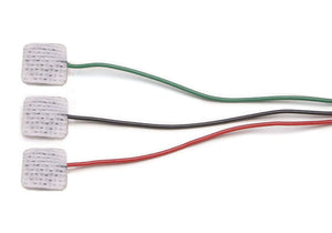 1023 EMG Disposable Surface Electrodes, Ag/AgCl , with 3 x 24-inch colored leads
