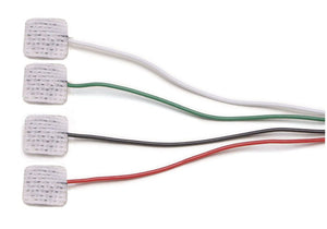 1025 EMG Disposable Surface Electrodes, Ag/AgCl , with 4 x 24-inch colored leads