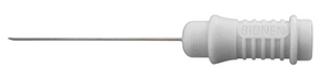 Close up of the white BIOC 30F (Fine) Concentric Needle Electrode