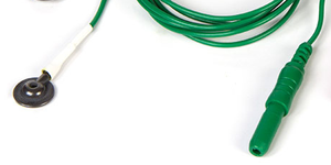 EEG Cup single cup with 1 meter green lead-wire
