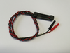 DDB-30SAF Reusable Bar Electrode. With black and red braided lead-wires and touch proof safety socket connectors