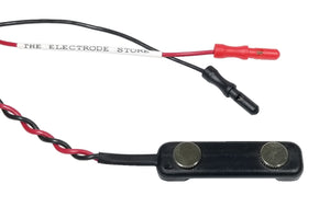 DDB-F30 black bar electrode, black, with flat 9mm discs spaced 30mm apart center-to-center.