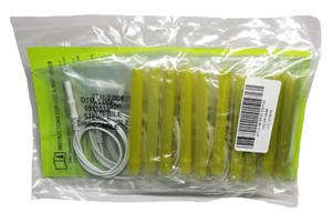 Sample pack of DTM-1.00F (Fine) with lime green cap in sterile packaging