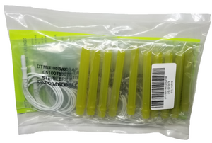 Sample pack of DTM-1.00 with lime green cap in sterile packaging