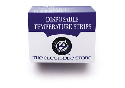 Disposable Temperature Strips. 57mm X 19mm, 16 events from 26 degree C to 33.5 degree C.