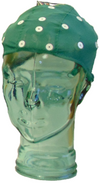 Electro-Cap extra small in green on glass head